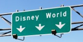 disney world highway sign