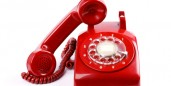 Here's a red phone.