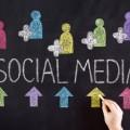 social media chalk board hand