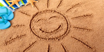 Sun In The Sand sun drawn in sand