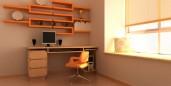 home office, clean, big window