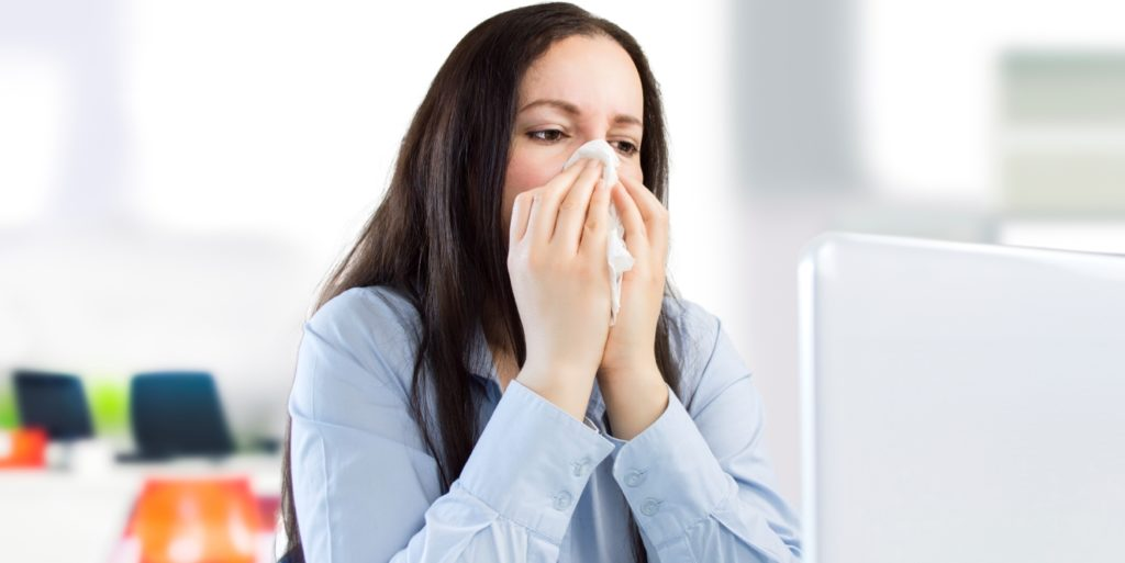 One of the major advantages of telecommuting? Staying healthy during flu season.