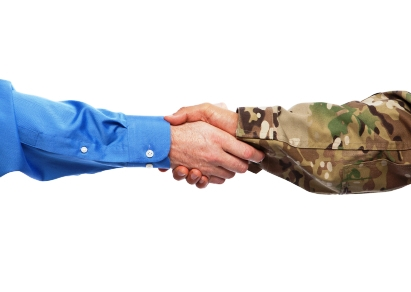 Military veterans transitioning into a civilian job search