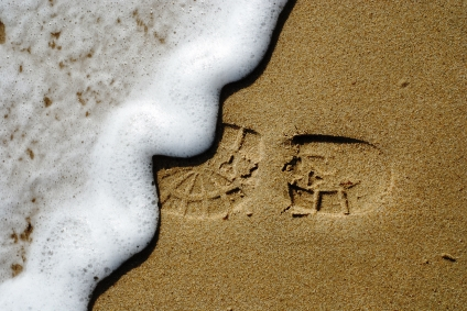 A footprint from the nonprofit Soles4Souls