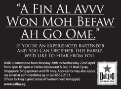 Dallas Restaurant ad