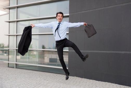 Employee experiencing job satisfaction.