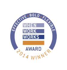 FlexJobs a Winner of 2014 When Work Works Award