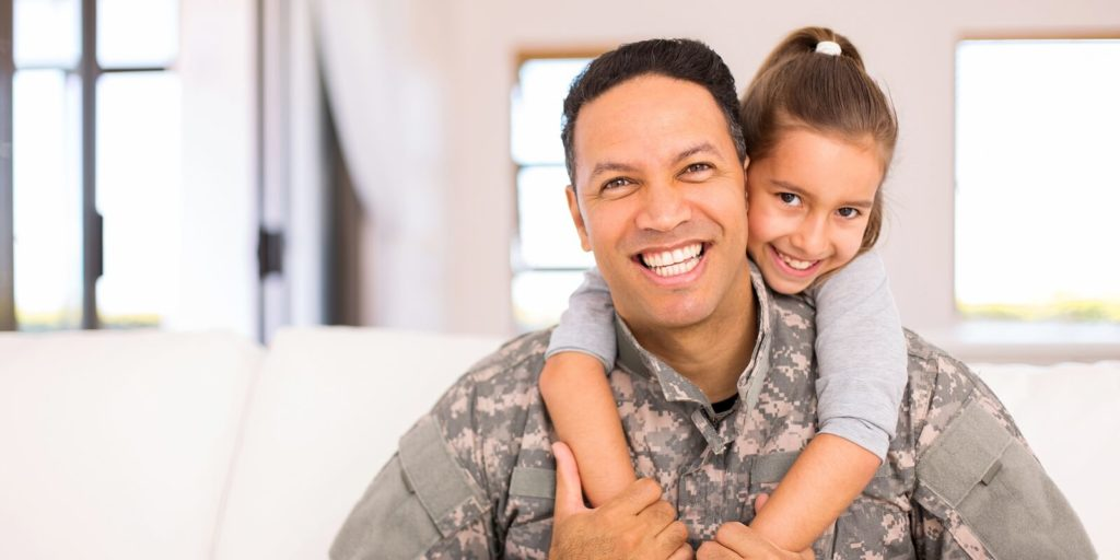 Veteran and daughter excited about flexible jobs for veterans.
