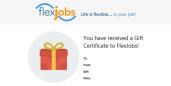 FlexJobs Gift Certificate