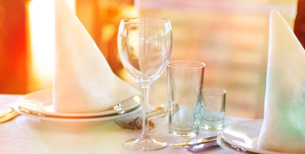 Organizing a table setting for event planning jobs