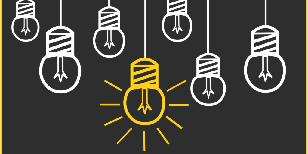 Light bulbs representing alternative jobs for millennials