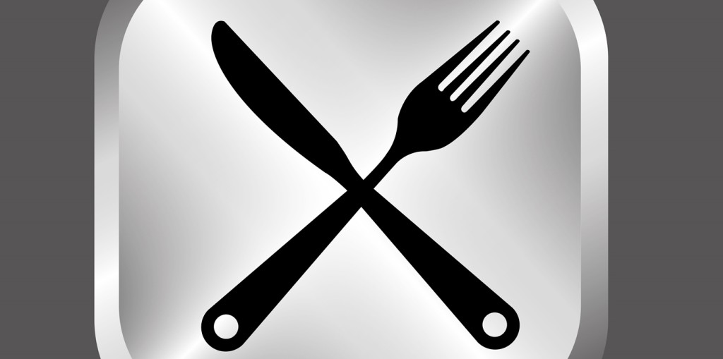 Knife, fork, and plate. Working for the top food and beverage companies.