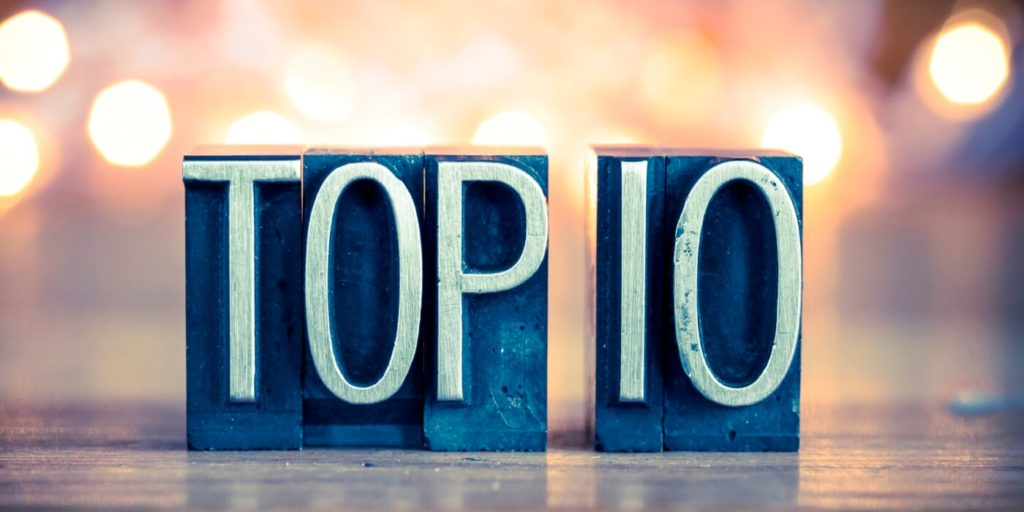 Top 10 sign for the most popular posts about flexible work