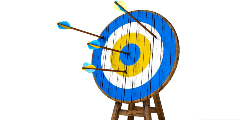 Hitting a target with near-wins as job search motivation.