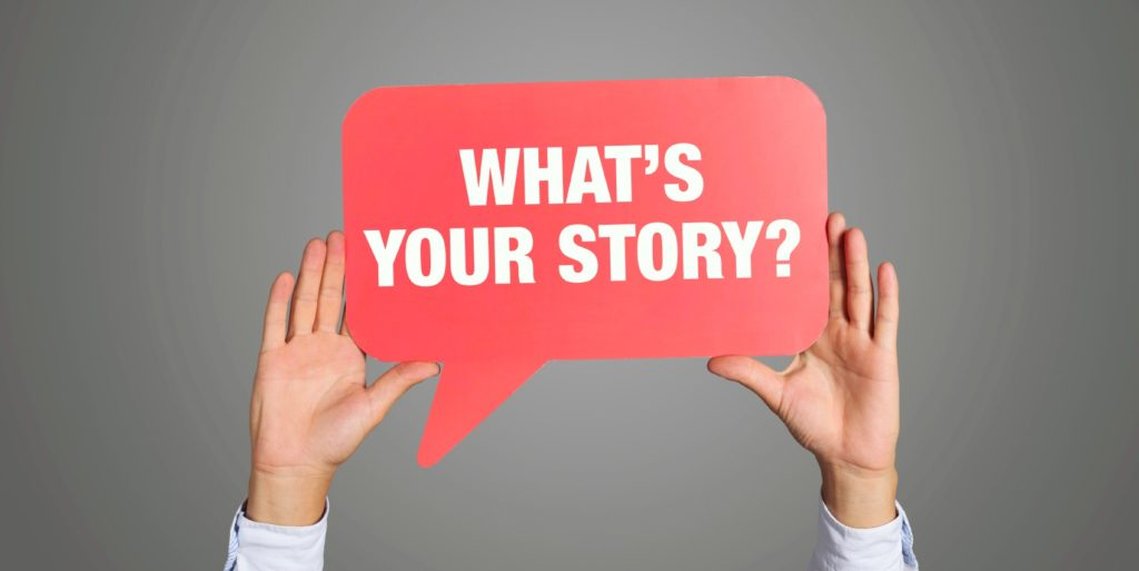 What's your story sign. Sharing stories about trying to have it all