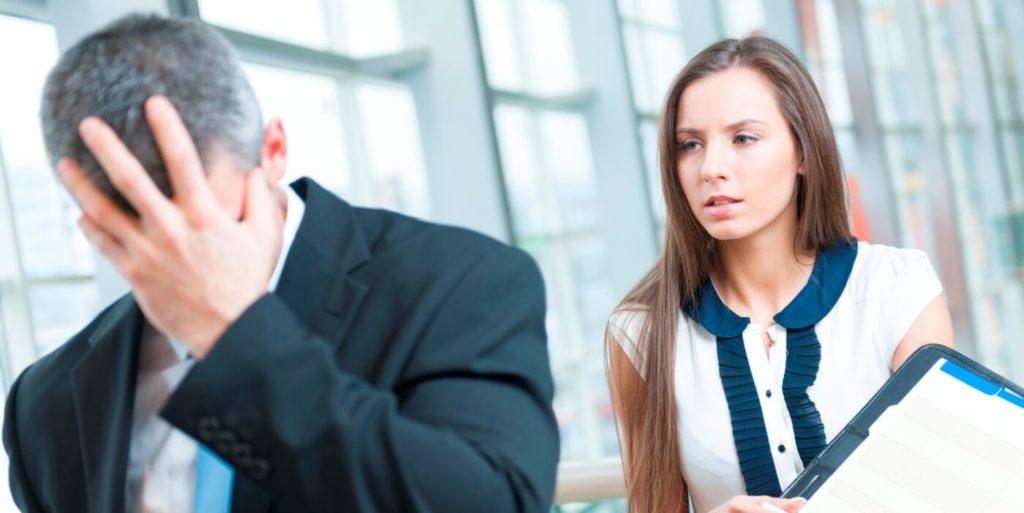 Man realizing he just hurt his job search success