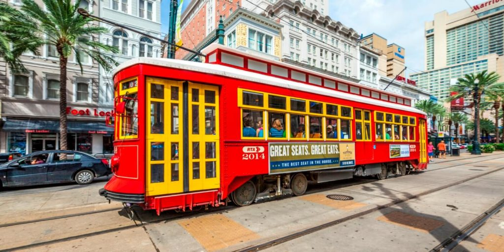 Use the trolley in Nola to explore flexible jobs in New Orleans.