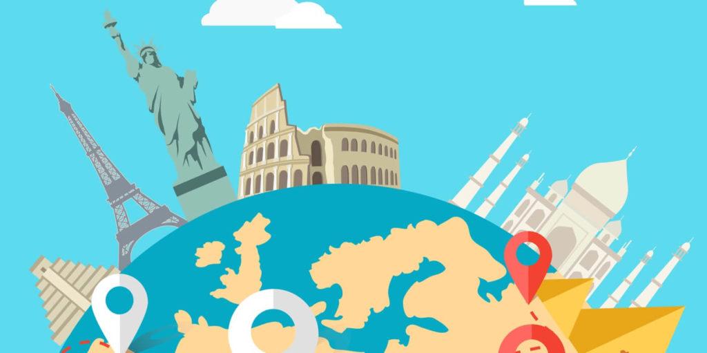 Globe of work around the world.