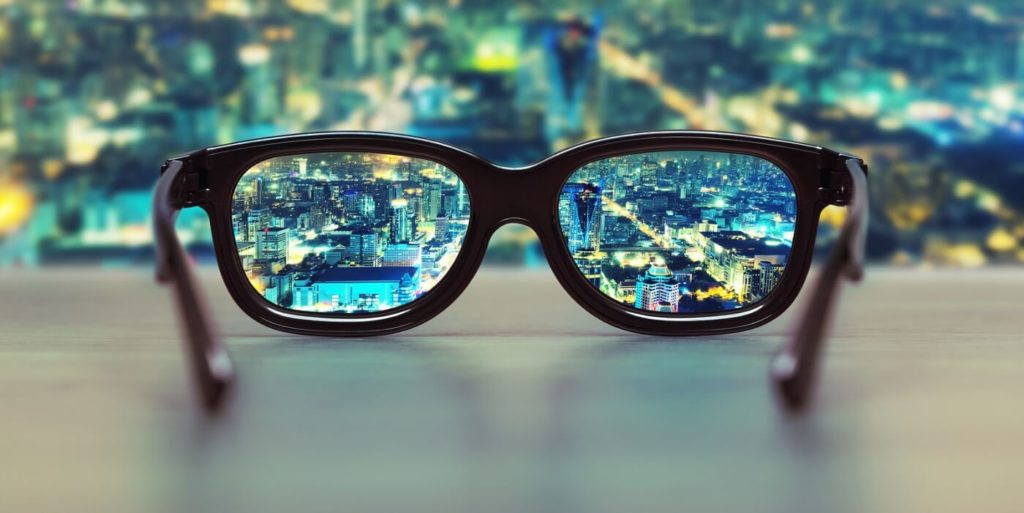 Glasses looking at job search success
