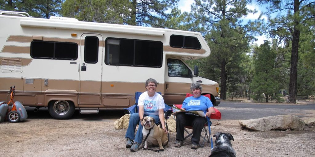 Christine H., who found a job using FlexJobs that allows working from an RV.