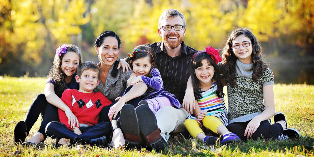 A family together because a SAHM found a work-from-home jobs.