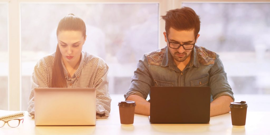 Job seekers using guerrilla job search hacks.
