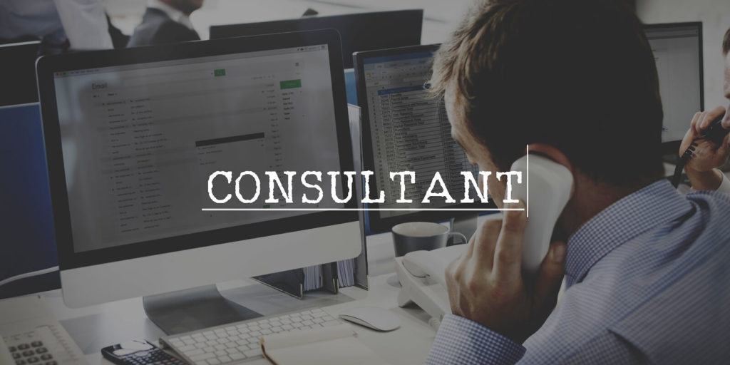 Business consultant at a job