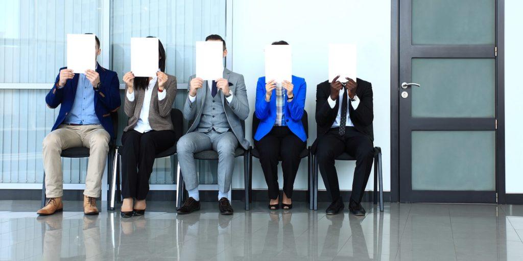 Job seekers using a job interview checklist.