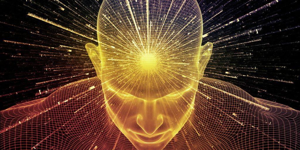 Job seeker using his brain to increase productivity