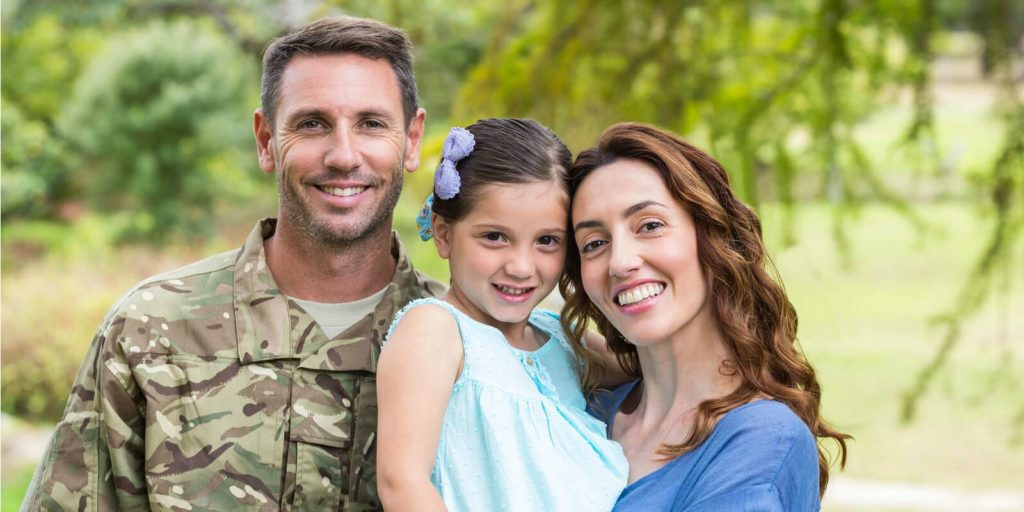 Job seekers at a military spouse networking event.