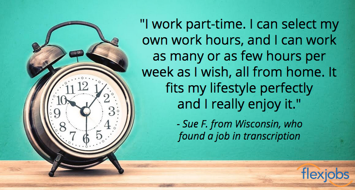Transcriptionist Sets Own Hours in Home-Based Job