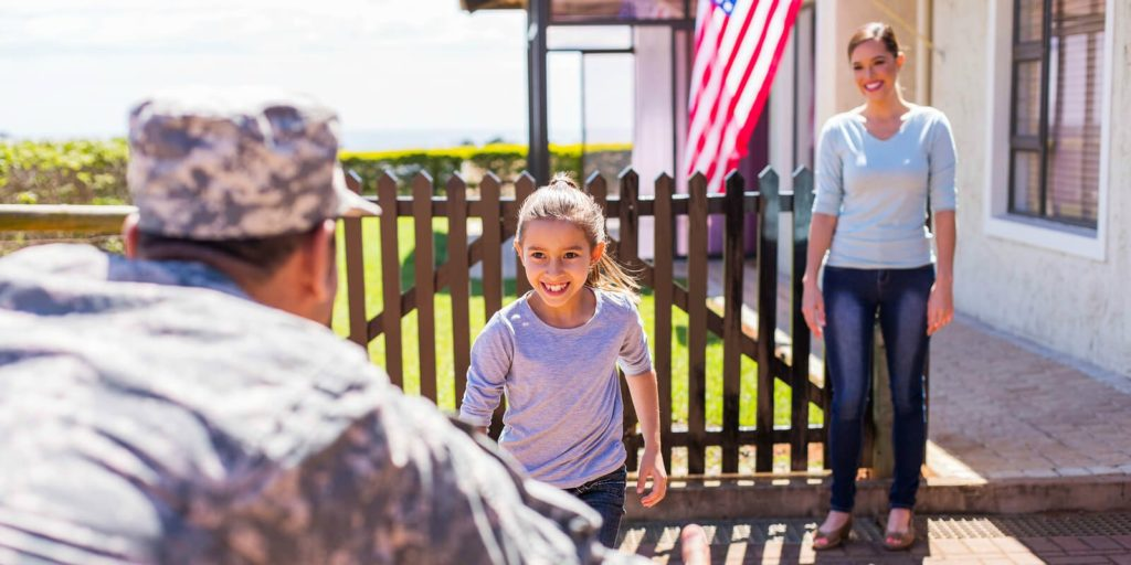 Military families and work