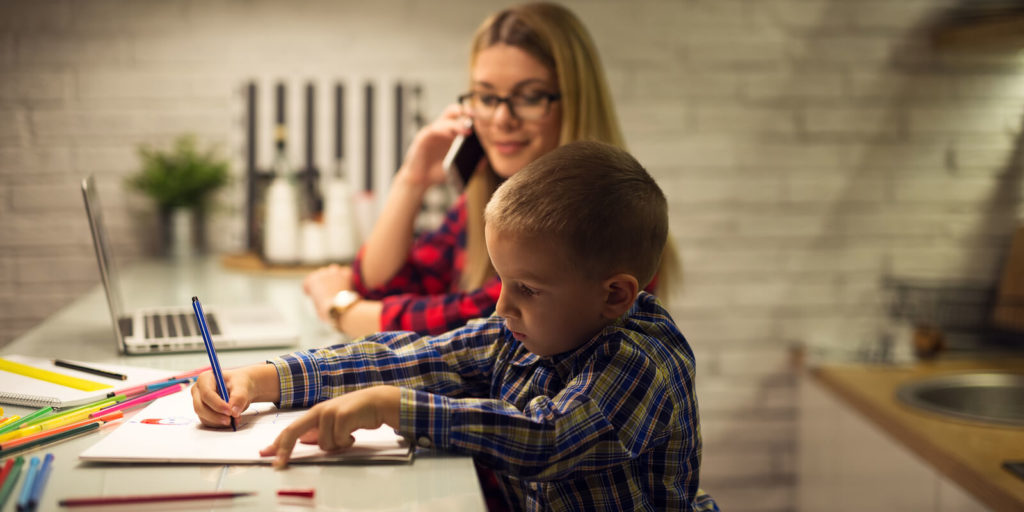 Parent trying to start achieving work-life balance.