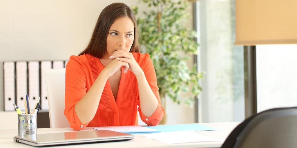 An introverted job seeker.
