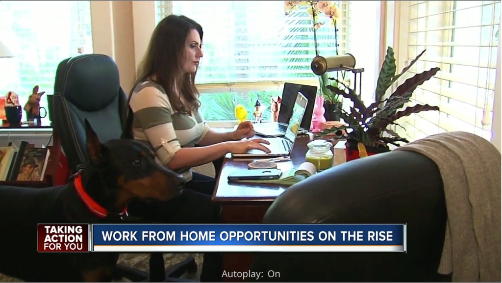 Military wife who is offering tips on successfully working from home.