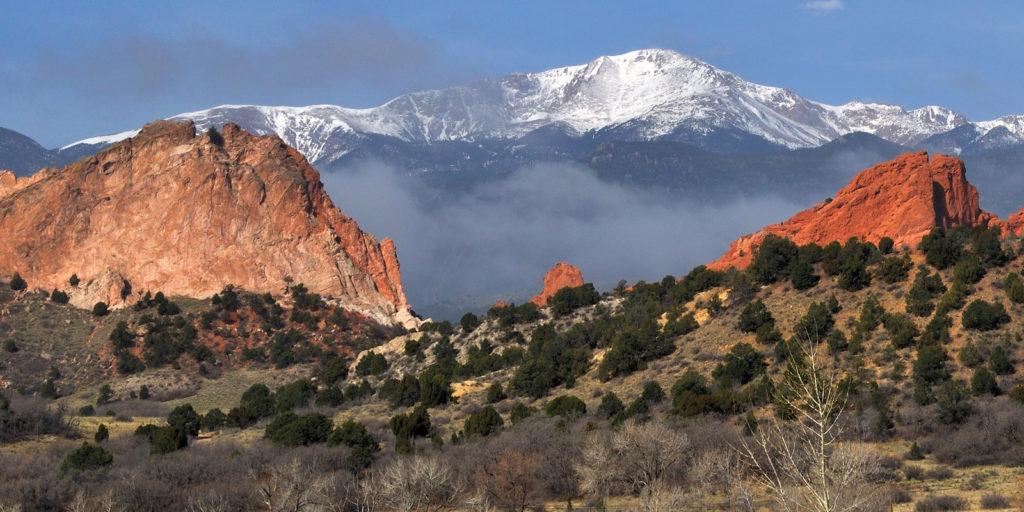 Red rock formations in Colorado Springs