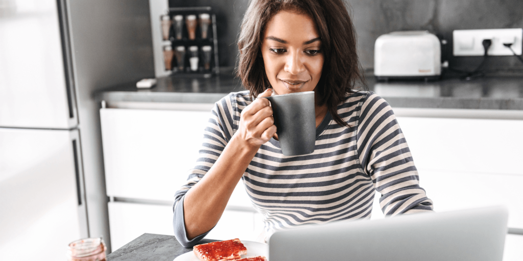 start your day working from home