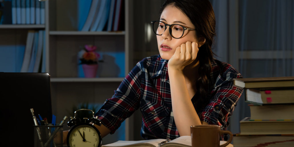 Working parents staying up late to get their job done