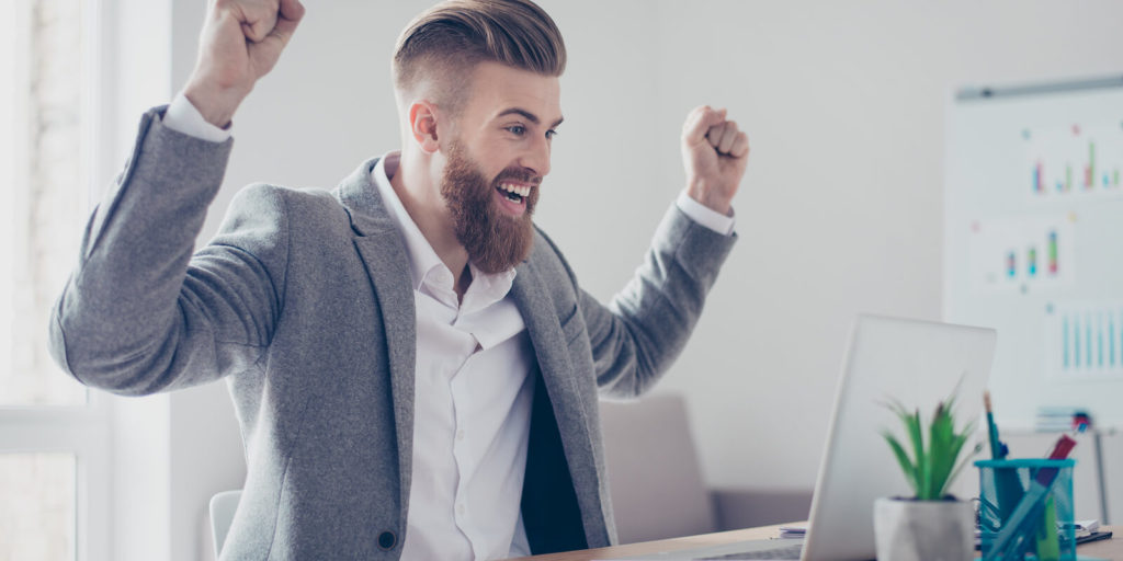 Man learning how to manage a successful job search.