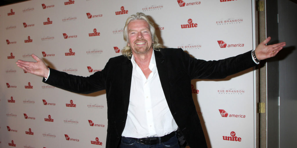 Richard Branson, one of several people who found work-life balance.