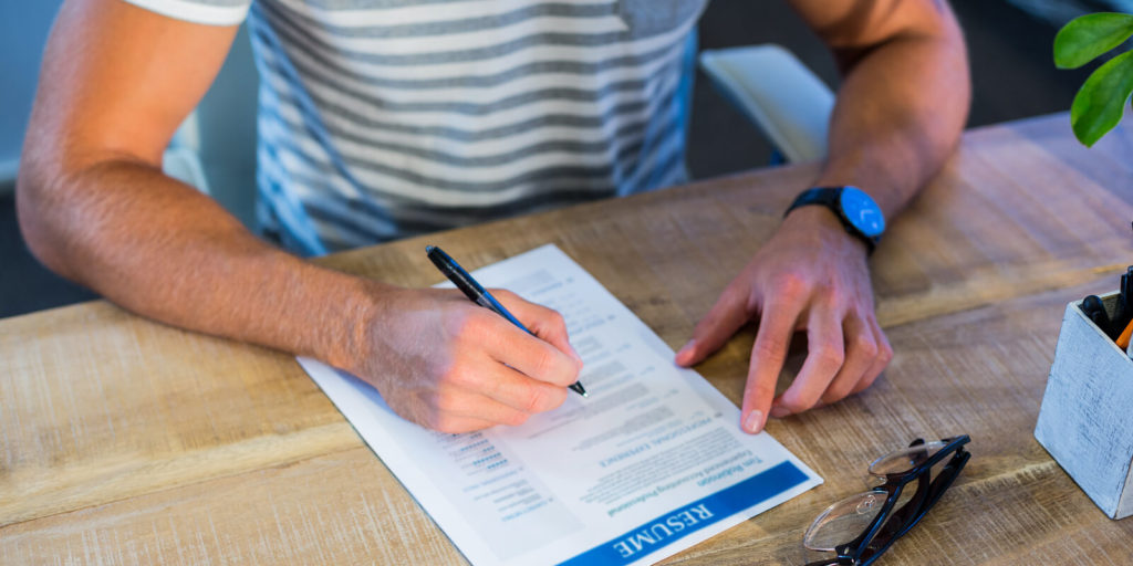 Resume writing, one of the three common job search challenges.