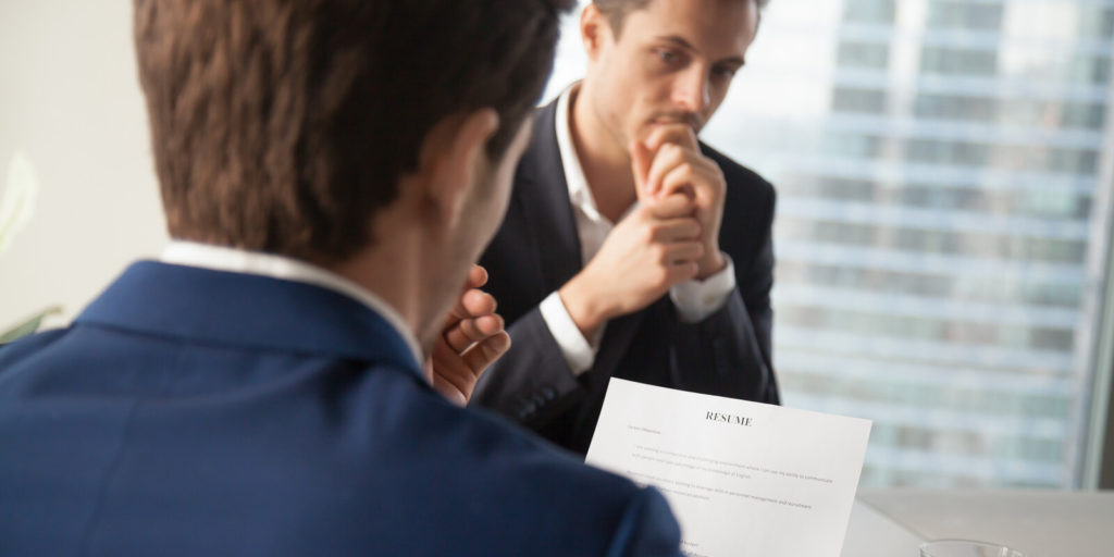 Job seeker not sure how to answer a job interview question.