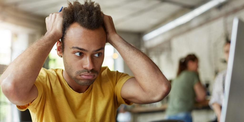 Man making common career mistakes freelancers make