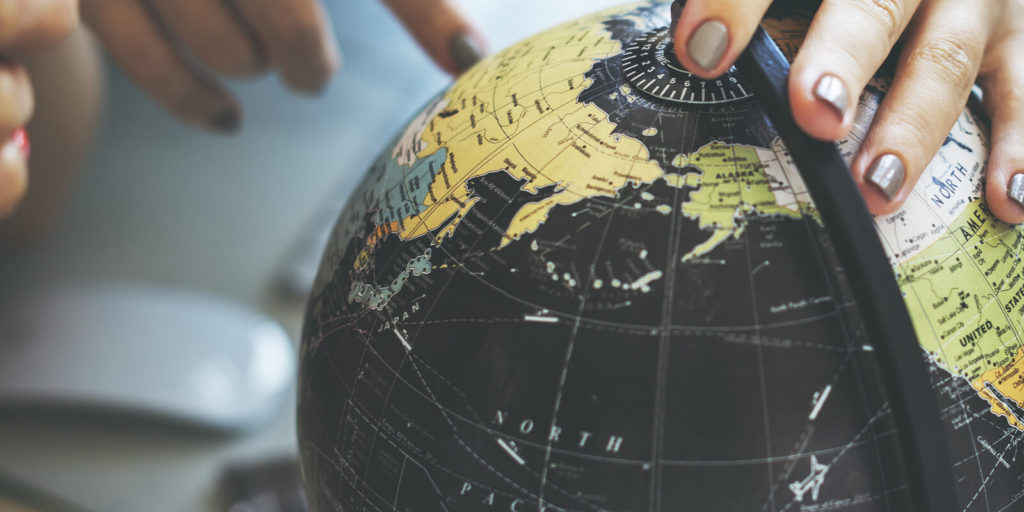 Globe for the best countries for digital nomads