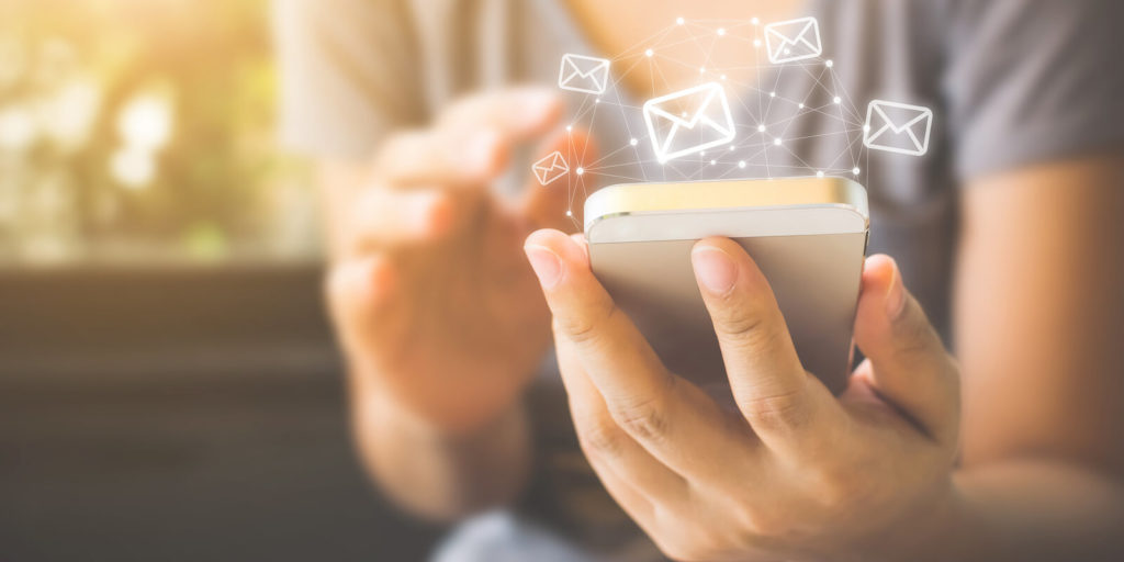Woman using tips for email management