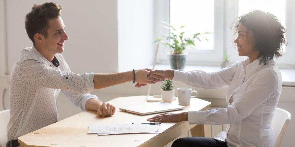 Woman hiring a job search expert