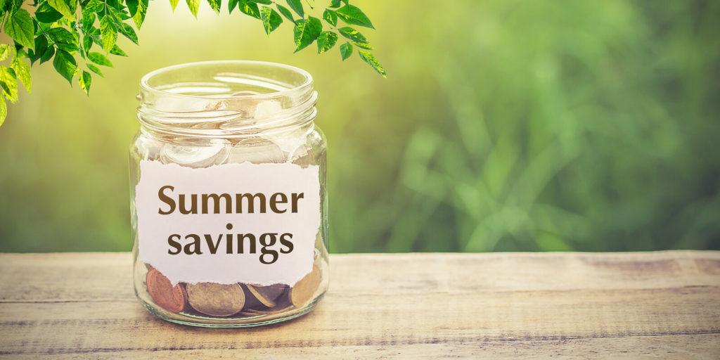 Summer savings for finding a summer job
