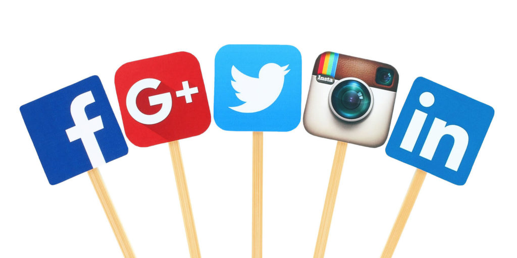 Social accounts for using social media to find a job