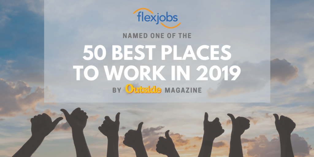 Outside Magazine Ranks FlexJobs as a Top Employer