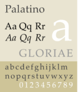 An example of Palatino font